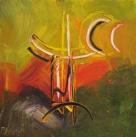 Work of  Paolo da San Lorenzo - Composizinone Astratta oil canvas