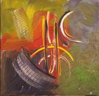 Quadro di  Paolo da San Lorenzo - Composizinone Astratta olio tela