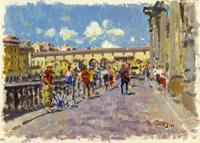 Quadro di  Graziano Marsili - Ponte Vecchio huile carton