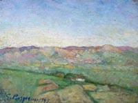 Quadro di Guido Borgianni - Sera sul Mugello olio tavola