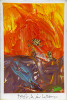 Quadro di  Paolo da San Lorenzo - Frammenti olio tela
