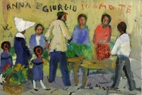 Quadro di  Rodolfo Marma - Mercatino  Óleos cartÓn tela