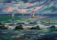 Work of Luigi Pignataro - Mare oil canvas