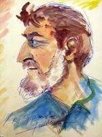 Quadro di Carlo Giannitrapani - Ritratto di Luigi Pignataro mista cartone