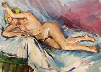 Quadro di  Gino Tili - Nudo  Óleos tela