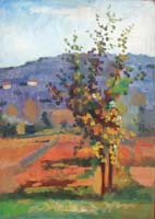 Quadro di  Luigi Pignataro - Colori d'autunno Óleos tabla