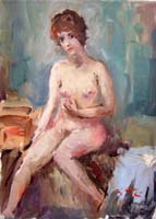 Работы  Gino Tili - Nudo oil холст