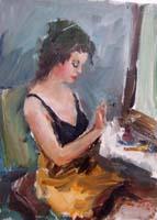 Работы  Gino Tili - Ritratto oil холст