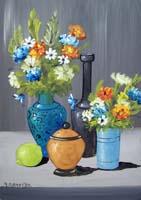 Работы  Marcello Gamurro - Vasi di fiori varnish стол