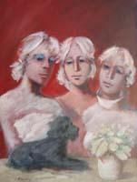 Quadro di  Umberto Bianchini - Insieme mixta tela