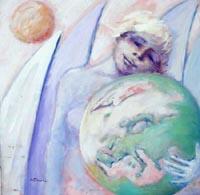 Quadro di  Umberto Bianchini - Sogno di ragazza mélange tableau