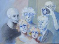 Quadro di  Umberto Bianchini - Foto di famiglia mélange toile