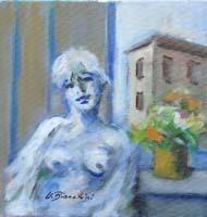 Work of Umberto Bianchini - Balcone mixed canvas