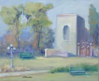 Quadro di  Umberto Bianchini - Villa comunale huile toile