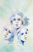 Quadro di Umberto Bianchini - Trio mista carta