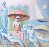Quadro di  Umberto Bianchini - Scena estiva mélange toile