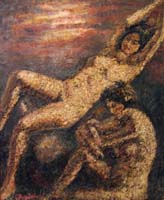 Quadro di  Guido Borgianni - Nudi al tramonto mixta tela