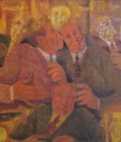 Quadro di  Remo Squillantini - La coppia Óleos tabla
