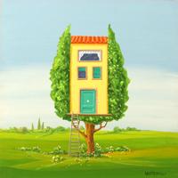Работы  Franco Lastraioli - Abitare un albero oil стол