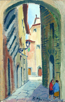 Work of Rodolfo Marma - vicolo del Cornino(Firenze) oil canvas