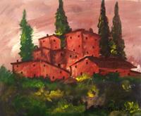 Работы  Teo Russo - Paesaggio oil стол