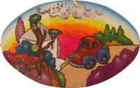Quadro di  Luca Alinari - Paesaggio huile papier