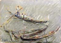Работы  Emanuele Cappello - Gondole oil холст