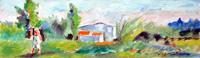 Quadro di Luigi Pignataro - paesaggio  tempera tavola