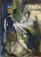 Quadro di Emanuele Cappello - Efebo latino olio tela