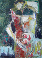 Quadro di Emanuele Cappello - Maschera informale olio tela