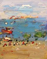 Работы  Sergio Scatizzi - Marina oil стол