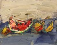 Работы  Sergio Scatizzi - Natura morta oil стол