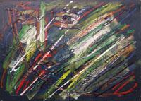 Работы  Xante Battaglia - Volto oil холст