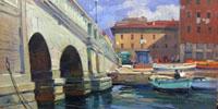Quadro di  Piero Marchi - Venezia (Livorno) huile tableau
