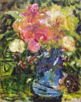 Quadro di  Roberto Panichi - Vaso con fiori huile toile
