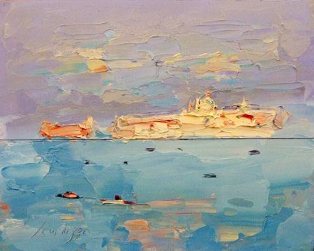 Работы  Sergio Scatizzi - Venezia oil стол