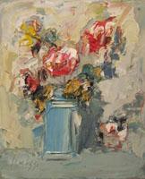 Quadro di  Sergio Scatizzi - Vaso con fiori Óleos tabla