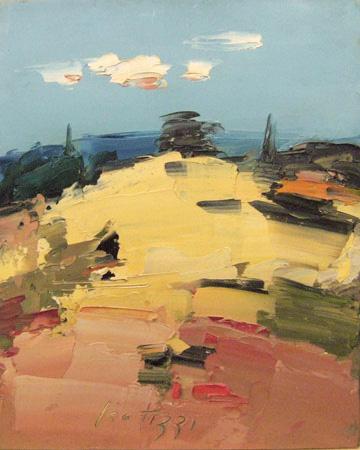 Работы  Sergio Scatizzi - Le crete oil стол