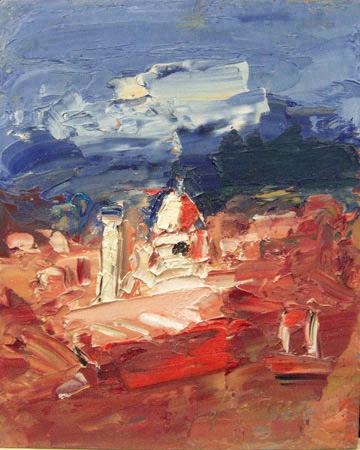 Работы  Sergio Scatizzi - Paesaggio oil стол