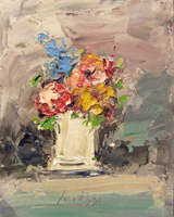 Quadro di Sergio Scatizzi  Vaso con fiori