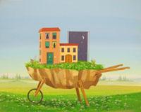 Work of Franco Lastraioli - Paesaggio da asporto oil canvas
