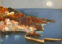 Work of Lido Bettarini - Porto oil canvas