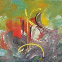 Работы   Paolo da San Lorenzo - Composizione astratta oil холст