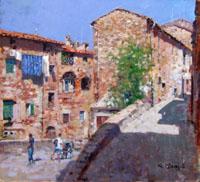 Quadro di  Graziano Marsili - Campiglia Marittima huile tableau