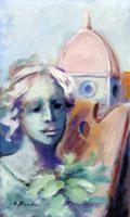 Quadro di  Umberto Bianchini - Primavera fiorentina Óleos tabla