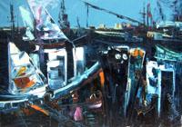 Work of Alice Bernardine Esders - Marina oil canvas