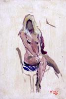 Quadro di  Gino Tili - Nudo seduto Óleos cartÓn