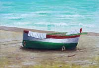 Work of firma Illeggibile - Barca oil canvas