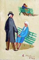 Quadro di  Rodolfo Marma - Primo e ultimo colloquio Óleos cartÓn tela