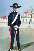 Quadro di  Rodolfo Marma - Carabiniere Óleos cartÓn tela